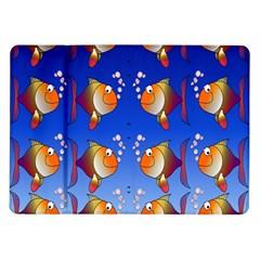 Illustration Fish Pattern Samsung Galaxy Tab 10 1  P7500 Flip Case