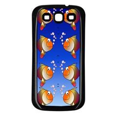 Illustration Fish Pattern Samsung Galaxy S3 Back Case (Black)