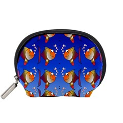 Illustration Fish Pattern Accessory Pouches (small)