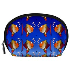 Illustration Fish Pattern Accessory Pouches (large)