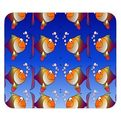 Illustration Fish Pattern Double Sided Flano Blanket (small)