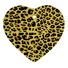 Jaguar Fur Ornament (heart)