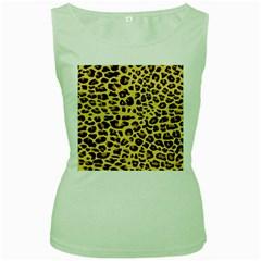 Jaguar Fur Women s Green Tank Top