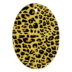 Jaguar Fur Oval Ornament (Two Sides)