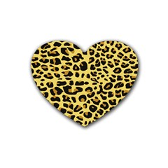 Jaguar Fur Heart Coaster (4 pack)