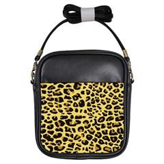 Jaguar Fur Girls Sling Bags