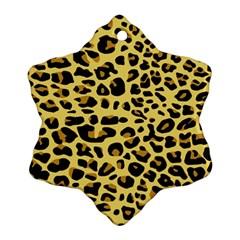 Jaguar Fur Ornament (snowflake)