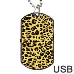 Jaguar Fur Dog Tag Usb Flash (one Side)