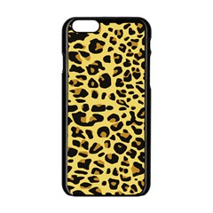 Jaguar Fur Apple Iphone 6/6s Black Enamel Case