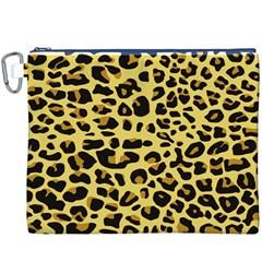 Jaguar Fur Canvas Cosmetic Bag (xxxl)