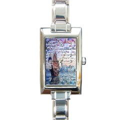 Hong Kong Travel Rectangle Italian Charm Watch