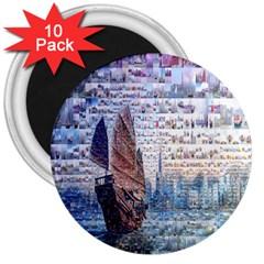 Hong Kong Travel 3  Magnets (10 pack)