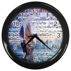 Hong Kong Travel Wall Clocks (Black)