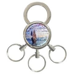 Hong Kong Travel 3-Ring Key Chains