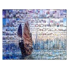 Hong Kong Travel Rectangular Jigsaw Puzzl
