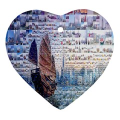 Hong Kong Travel Heart Ornament (Two Sides)