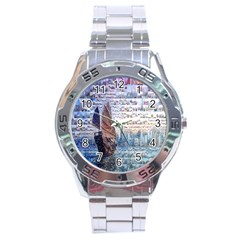 Hong Kong Travel Stainless Steel Analogue Watch