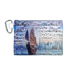 Hong Kong Travel Canvas Cosmetic Bag (m)