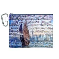 Hong Kong Travel Canvas Cosmetic Bag (xl)