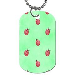 Ladybug Pattern Dog Tag (One Side)