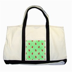 Ladybug Pattern Two Tone Tote Bag