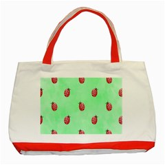 Ladybug Pattern Classic Tote Bag (red)