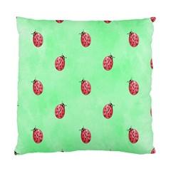Ladybug Pattern Standard Cushion Case (one Side)