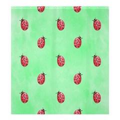 Ladybug Pattern Shower Curtain 66  x 72  (Large)