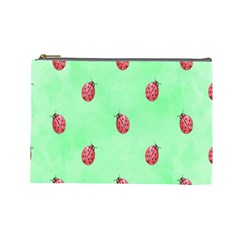 Ladybug Pattern Cosmetic Bag (large)