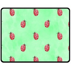 Ladybug Pattern Fleece Blanket (Medium)