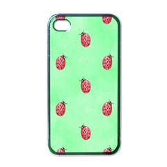 Ladybug Pattern Apple iPhone 4 Case (Black)