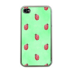 Ladybug Pattern Apple Iphone 4 Case (clear)