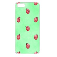 Ladybug Pattern Apple Iphone 5 Seamless Case (white)