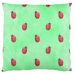 Ladybug Pattern Standard Flano Cushion Case (One Side)