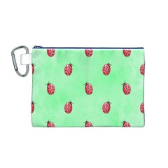 Ladybug Pattern Canvas Cosmetic Bag (m)