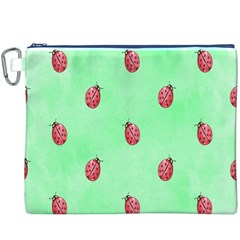 Ladybug Pattern Canvas Cosmetic Bag (xxxl)
