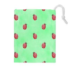 Ladybug Pattern Drawstring Pouches (Extra Large)