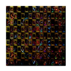 Kaleidoscope Pattern Abstract Art Tile Coasters
