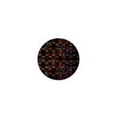 Kaleidoscope Pattern Abstract Art 1  Mini Buttons