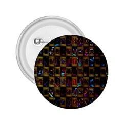 Kaleidoscope Pattern Abstract Art 2.25  Buttons
