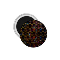 Kaleidoscope Pattern Abstract Art 1.75  Magnets