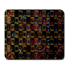 Kaleidoscope Pattern Abstract Art Large Mousepads