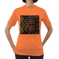 Kaleidoscope Pattern Abstract Art Women s Dark T-Shirt