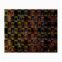 Kaleidoscope Pattern Abstract Art Small Glasses Cloth