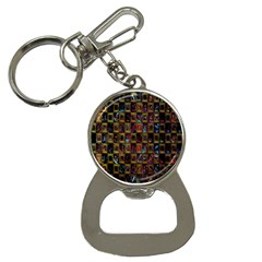 Kaleidoscope Pattern Abstract Art Button Necklaces