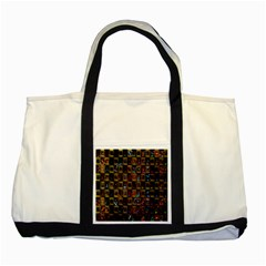 Kaleidoscope Pattern Abstract Art Two Tone Tote Bag