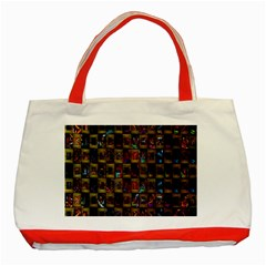 Kaleidoscope Pattern Abstract Art Classic Tote Bag (Red)