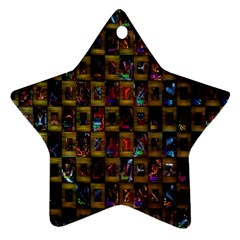 Kaleidoscope Pattern Abstract Art Star Ornament (Two Sides)