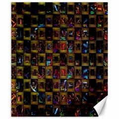Kaleidoscope Pattern Abstract Art Canvas 8  x 10