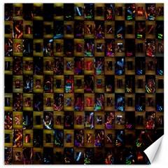 Kaleidoscope Pattern Abstract Art Canvas 16  x 16